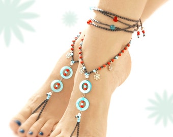 Barefoot Sandals. Mother Of Pearl bAREFOOT SANDALS. Gift For Her