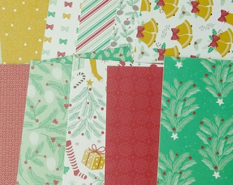 Stampin' Up! SAMPLER Holiday DSP 6 x 6 Double Sided Paper Presents and Pinecones Christmas  Retired