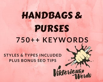 SEO Bags Keywords for Handbags Tags Popular Keyword How to Sell SEO Help Tag Title Marketing Search Results Instagram Hashtag Best Seller