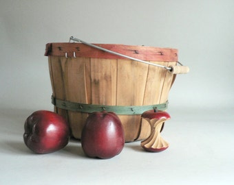 Bent Wood Orchard Basket With Handle
