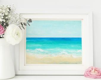 Seascape Painting, Lake House Decor, Nautical Decor, Coastal Decor, Beach Decor, Beach Art, Ocean Wall Decal, Ocean print, Nautical Nursery