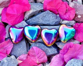 ONE Rainbow Hematite Heart