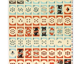 Pocono Modern Woodland Playing Cards - Full Uncut Sheet