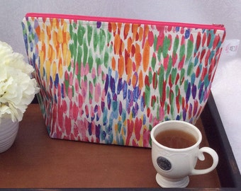 Colorful Oversized Knitting Project Bag