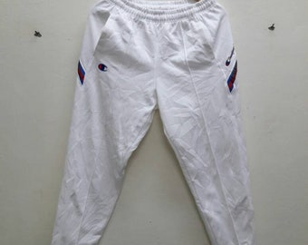 Champion products sweatpants jogger track pants multicolour line side Small Size sports