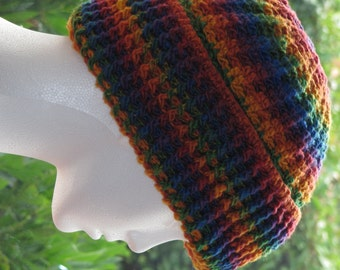 Instant Download Pattern For Thick Ribbed Cuffed Crochet Hat