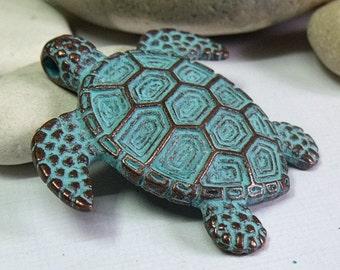 Greek Mykonos Sea Turtle Pendant