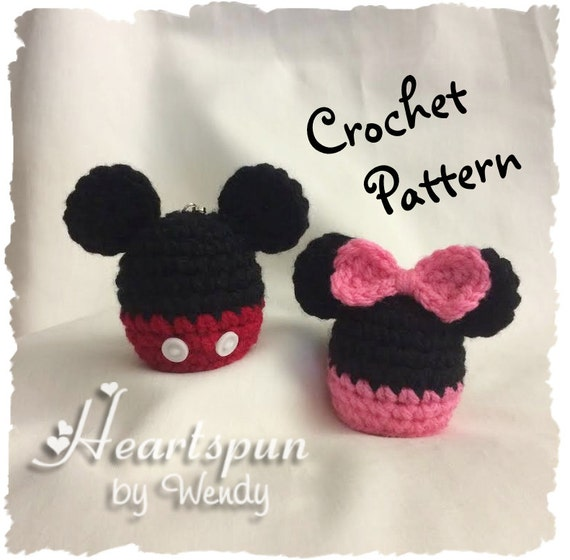 CROCHET PATTERN to make a Mickey Mouse and Minnie Mouse EOS