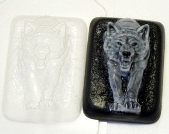 Wolf 3 - plastic soap mold soap making soap mould molds soap mold