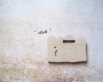 25 vintage camera die cuts, vintage camera, tim holtz die cuts, five natural colored die cuts, vintage die cuts, vintage scrapbooking