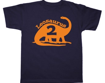 Dinosaur Birthday Shirt - any age and name - pick your colors!