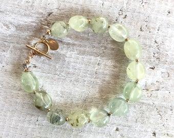 Prehnite ZEN Gemstone Bracelet - Unconditional Love - Heart (4th) Chakra - ZEN by Karen Moore Jewelry
