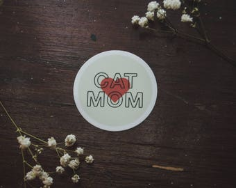 Cat Mom Vinyl Sticker / Cat Lady Decal / Fur Mom Sticker