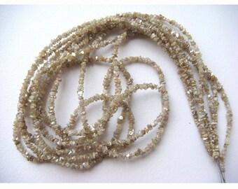 Rough Diamonds - Natural Raw Uncut Diamond Beads - 3mm To 2mm - 8 Inch Half Strand