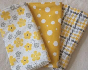 Burp cloths, Baby shower gift, Set of 3 burp cloths