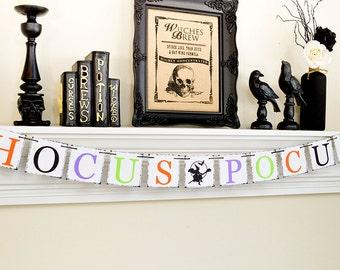 Halloween Banner, Hocus Pocus Sign, Halloween Party, Happy Halloween Witches, Hocus Pocus, Trick or Treat