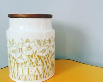 Vintage Hornsea Fleur Tea Jar