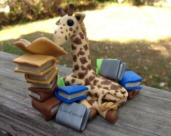 Made to Order Handmade Giraffe With Books