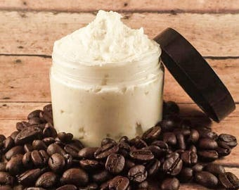 Whipped Body Butter, Coffee Body Butter, Coffee Lotion, Vegan Body Butter, Hazelnut Coffee, Body Butter, Body Cream, Paraben Free, Lotion
