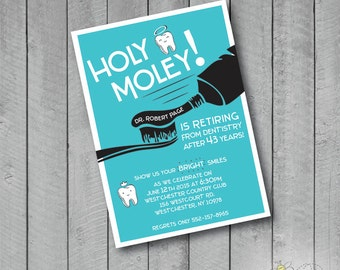 Custom Retirement or Graduation Dentist Party Invite