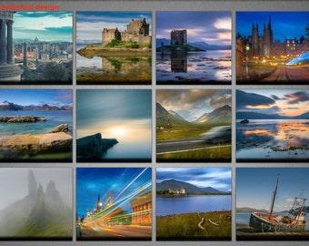 2018 Scotland Calendar, Photography Calendar, Monthly Wall Calendar, Yearly Desk calendar, Landscapes, Cityscapes, Beachscapes Photography