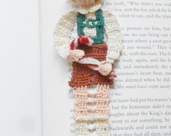 fairytale bookmark, Hansel with candy cane decor, Hansel and Gretel decoration, booklovers gifts, nursery decor, unique bookmark, home decor