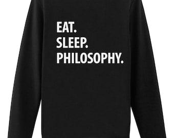 Philosophy, Philosophy Sweater, Eat Sleep Philosophy sweatshirt - 1050
