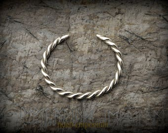 Aggersborg Bracelet M size, Silver plated, Viking Braided Bracelet, Viking Arm Ring, Norse Jewelry, Scandinavian Jewelry