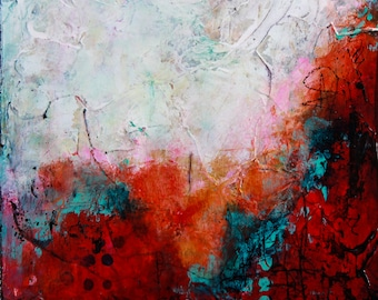 """Abstract textured canvas print, painting, abstract art, 3/4"""" thick canvas print, """"Blissful Heartache"""""""