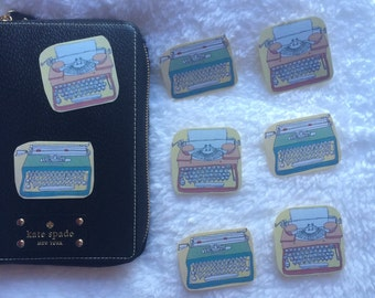 Vintage Typewriter Stickers x 6