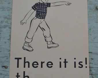 Vintage Flash Card Picture Image Ephemera - Boy - There It Is