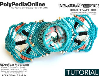 Polymer Clay Jewelry, Macrame Pattern, Bracelet Pattern, How To Macrame ,DIY Macrame, Craft, Macrame Tutorial, Polymer Clay Bead, Handmade