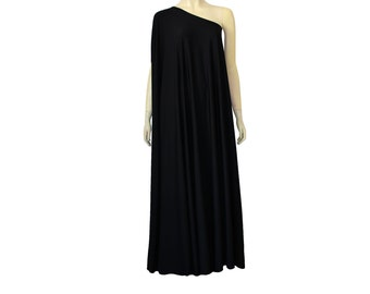 Plus Size Dress Formal Dress One Shoulder Maxi Dress Backless Prom Gown