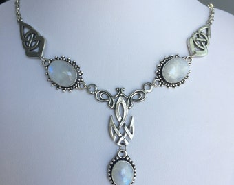 Moonstone Celtic necklace