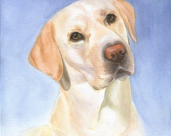 Custom Dog Portrait, Pet Portrait, Hand Painted Watercolor Portrait, Custom Dog Painting, Commission Art, Christmas Gift
