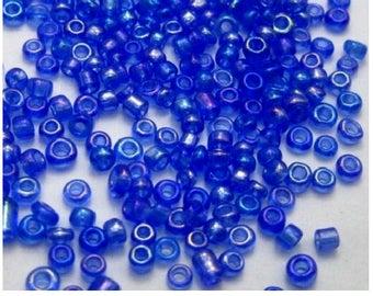 200 g 2 mm dark blue seed beads