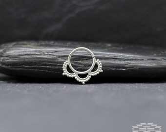 Septum ring, Septum piercing, nose ring septum, indian septum, nose piercing, tribal jewelry, tribal septum