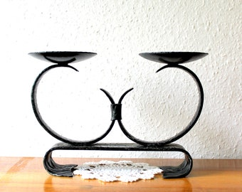 Metal Candle Holder for 2 candles from Germany, vintage, retro, nostalgia