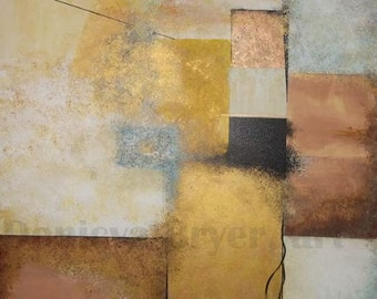 Fields of Brown, Copper  & Gold  -   Painting