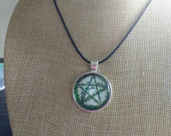 Nature Ivy wrapped pentagram pendant and necklace