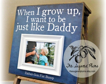 Fathers Day Photo Frame, First Fathers Day, Gifts For Dad, New Dad Gift, Daddy Gift, Personalized Picture Frame, 16x16 The Sugared Plums