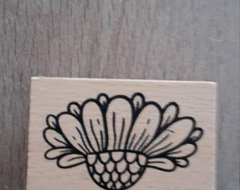 Flower wooden stamp
