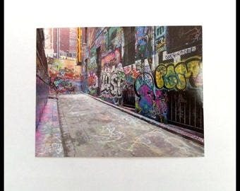 Melbourne Australia Graffiti Photograph Postcard Street Art