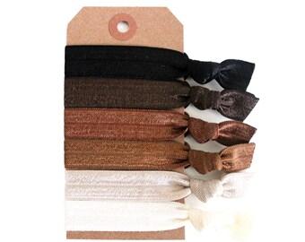 NATURAL BEAUTY Elastic Hair Ties, Ponytail Holders, Stretchy Ribbon Hair Ties, Elastic Hair Accessories, Yoga Hair Ties, Boho