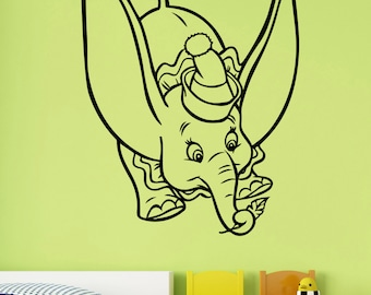 Dumbo Wall Decal Vinyl Sticker Disney Movie Art Decorations for Home Childrens Kids Room Nursery Decor dumb2