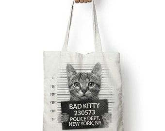 Bad Kitty, drôle, Cabas, Shopping, sac de Surf