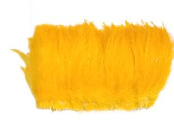 HACKLE 3'' Feather FRINGE Color : Gold (Appx 100 pcs)