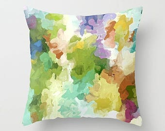 Watercolor Pillow, Pillow Cover, Throw Pillow Cover, Art Pillow, Accent Pillow, Couch Pillow, 16x16 18x18 20x20 24x24 26x26, Sofa Pillow
