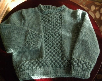 Hand knit toddler pullover