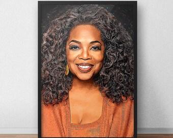 Oprah Winfrey - Oprah Winfrey poster - Oprah Winfrey print - Talk Show - The Oprah Winfrey Show